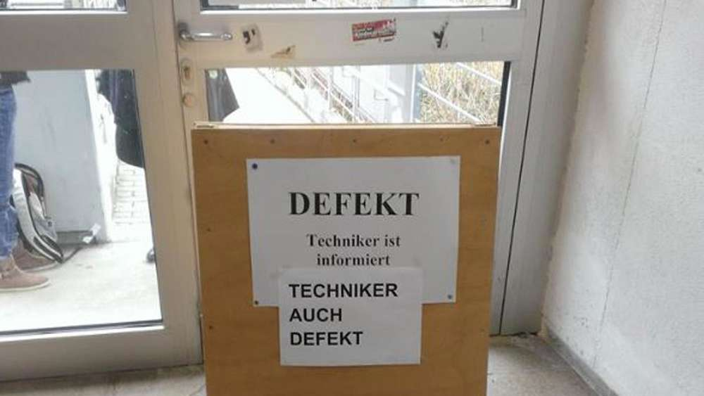 Defekte Tür Universität Mainz