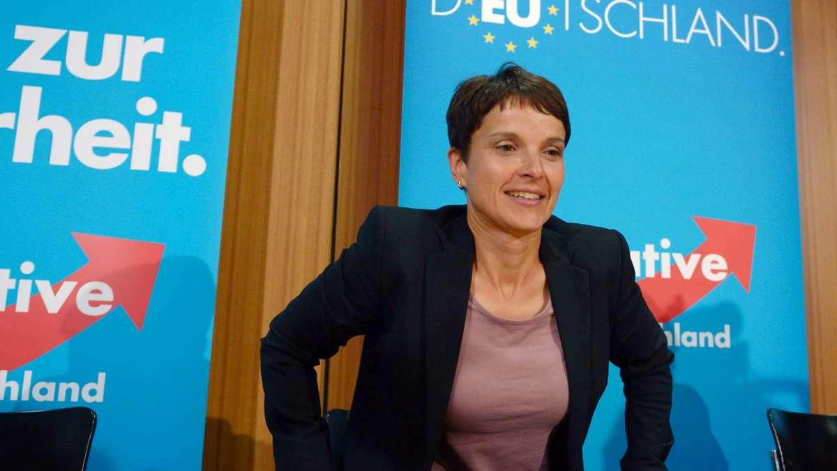 AfD-Politikerin Frauke Petry im Landtag: Ärger geht weiter   Politik