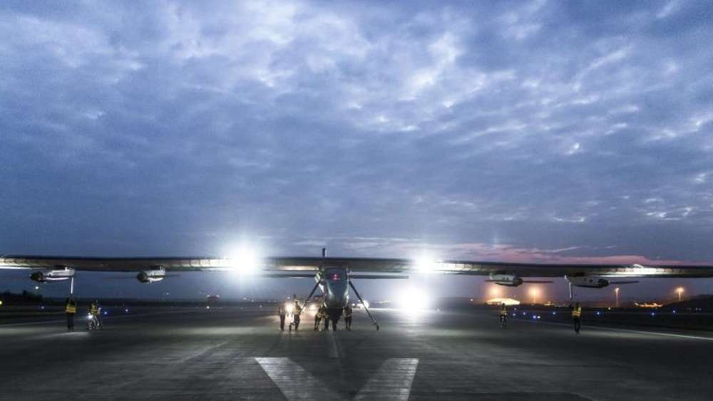 "Die ""Solar Impulse 2"" in China. Foto: Solar Impulse"