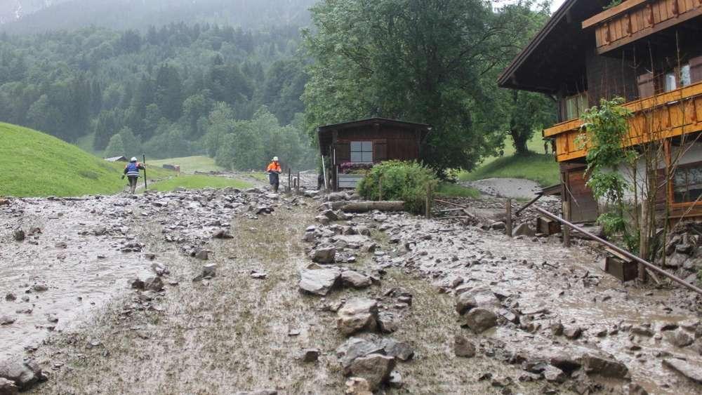 Schlammlawine Oberstdorf