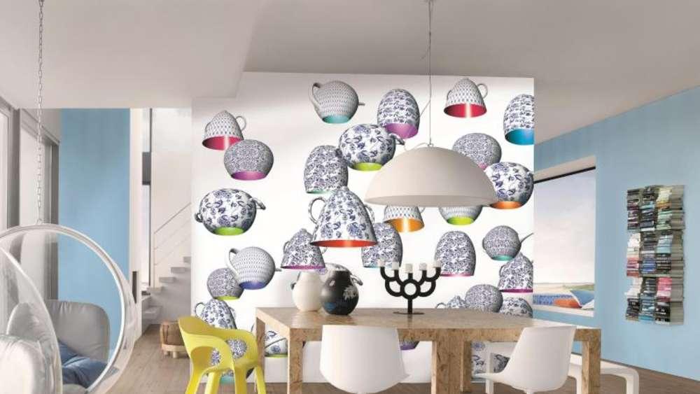 Tapeten Für Die Küche: Einzelne Wände Mit Mustern Versehen