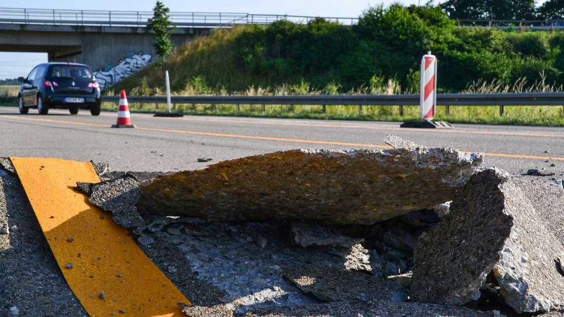 """""""Blow up"""" auf der Autobahn A5"""