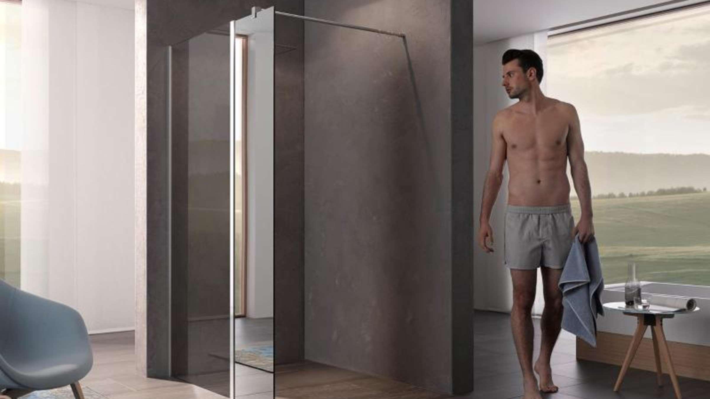 Dusche ohne Tür: Verbleibende Wand muss lang genug sein | Wohnen