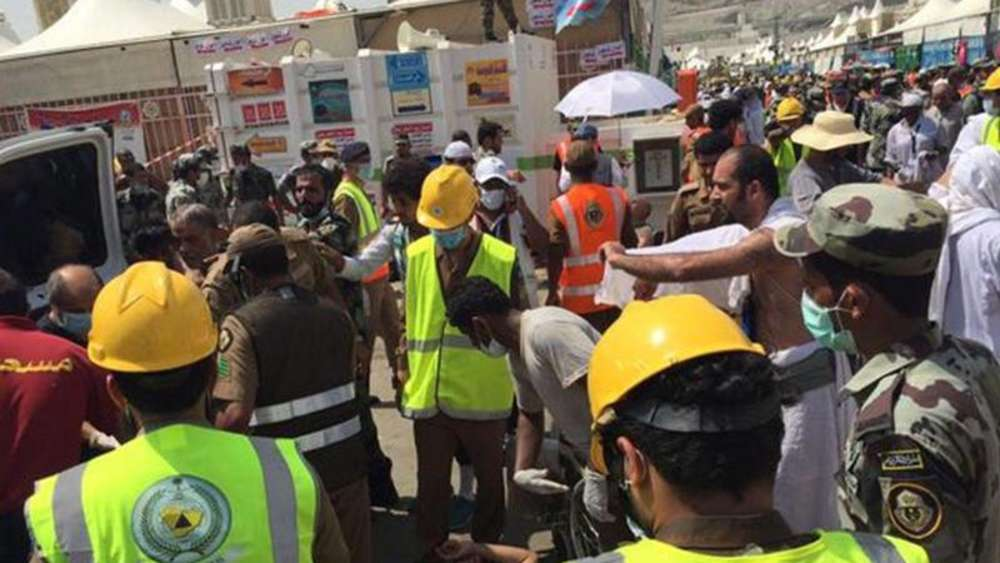 Einsatz in Mekka: Hunderte Pilger kamen in einer Massenpanik ums Leben. Foto: Directorate Of The Saudi Civil Defense Agency