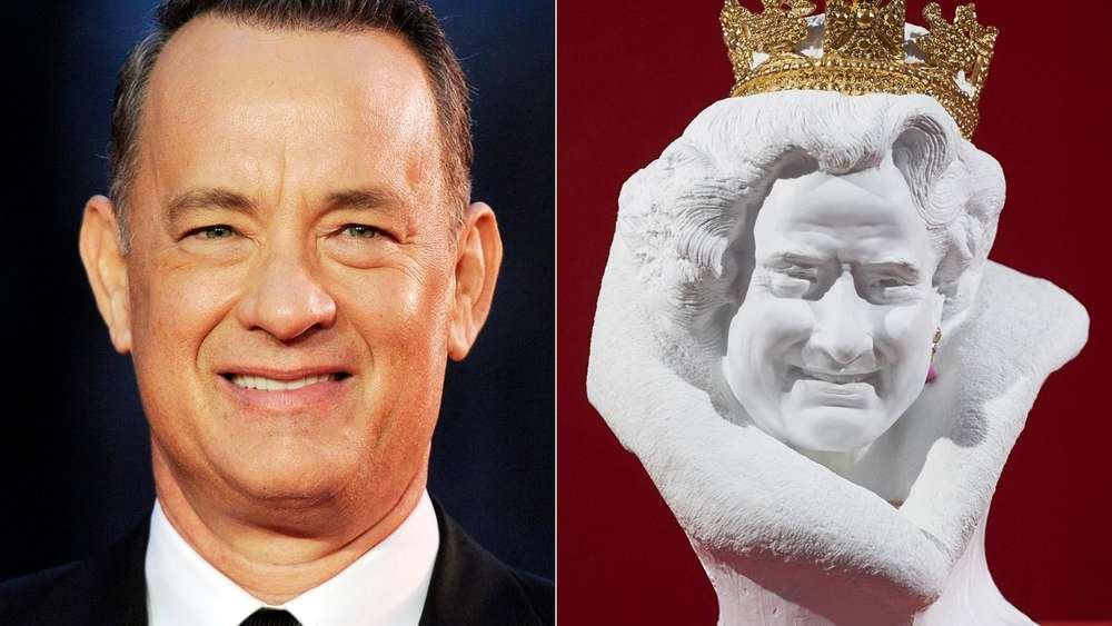 Tom Hanks, Queen Elizabeth, Büste, ähnlich