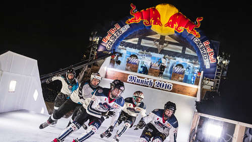Video: So rasant war Red Bull Crashed Ice im Olympiapark