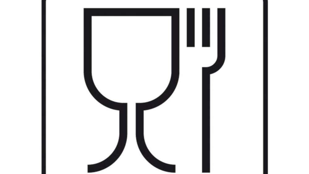 Beliebt Glas- und Gabel-Symbol sagt nichts über die TP98