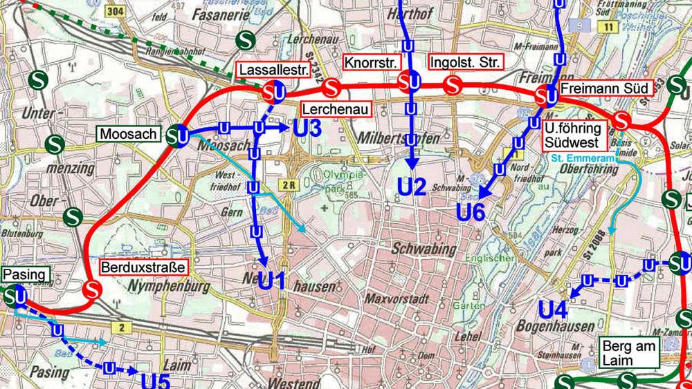 S Bahn Karte München.Neues Konzept Für S Bahn Nordring Statt Stammstrecke Stadt München