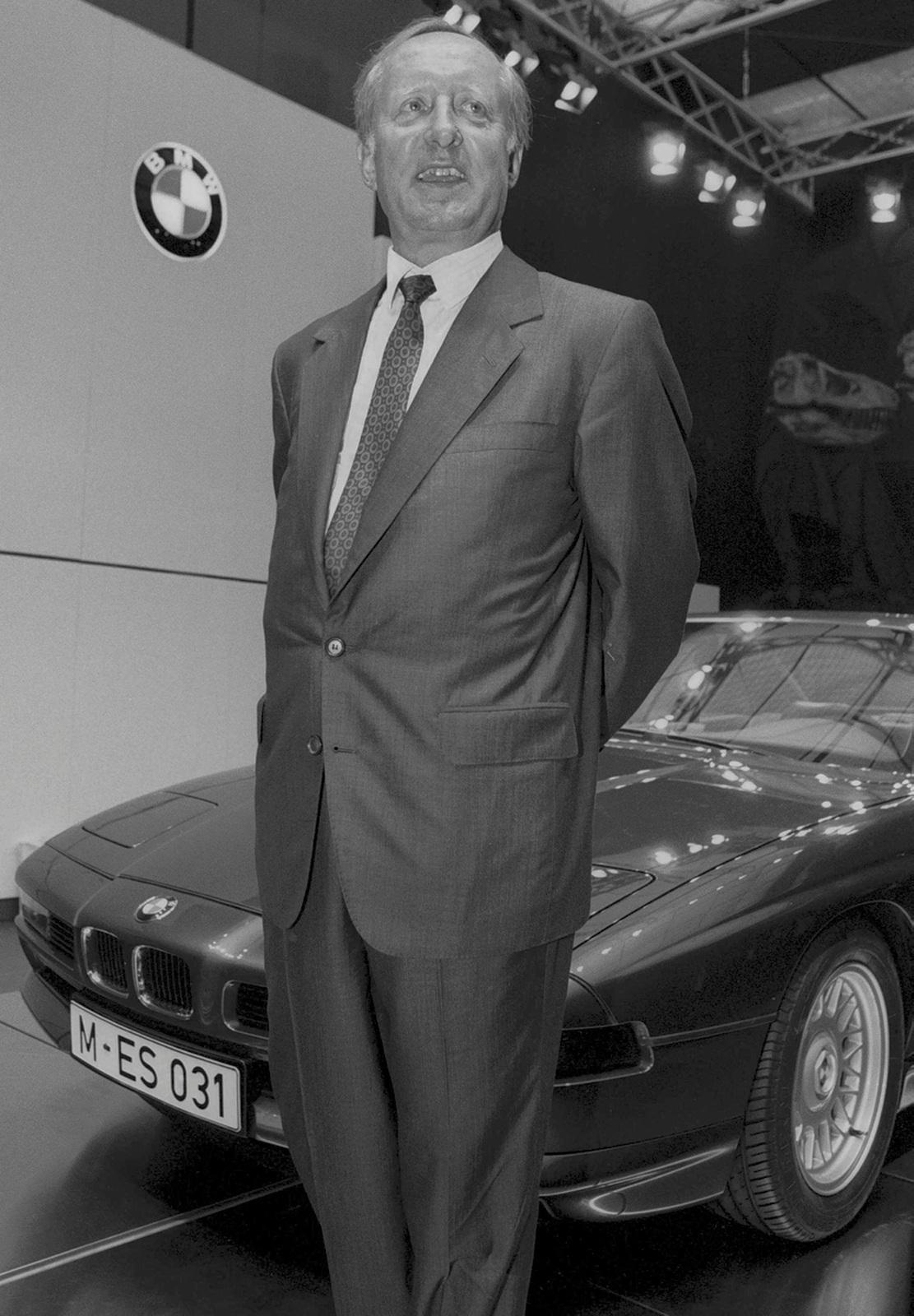 Der BMW-Chef Eberhard von Kuenheim 1989 auf der IAA in Frankfurt.