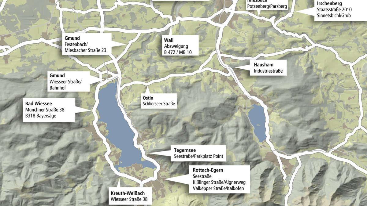 Blitzmarathon Bayern Karte