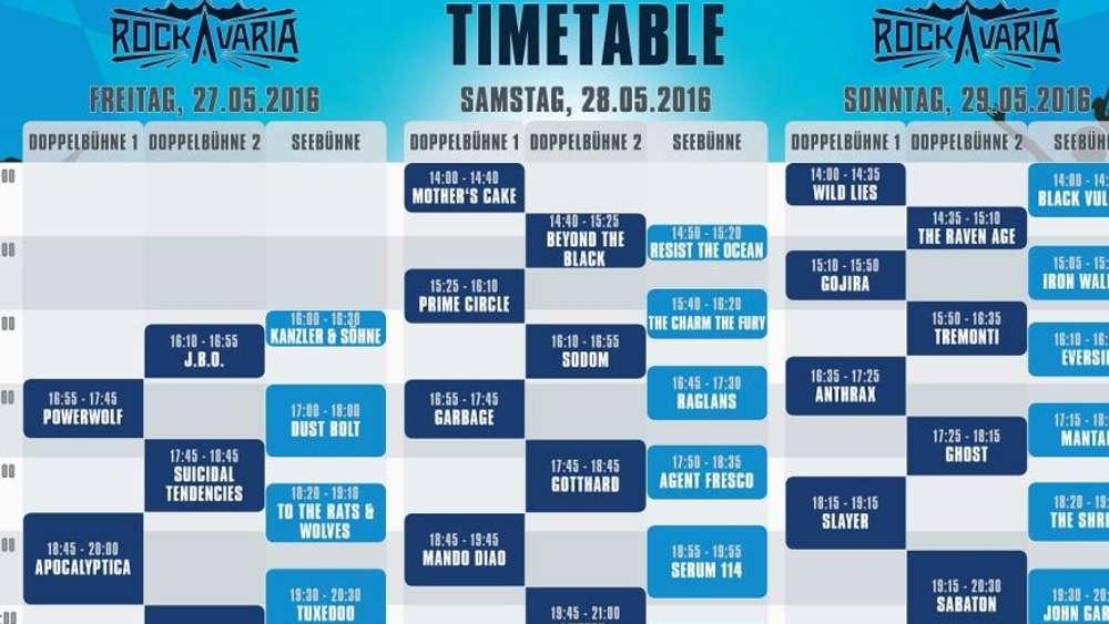 Rockavaria 2016: Zeitplan und Line-Up des Open-Air-Festivals | Kultur