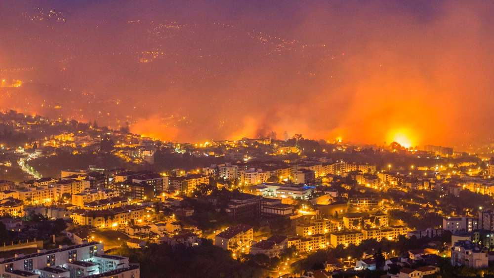 Forest fire in Madeira Island