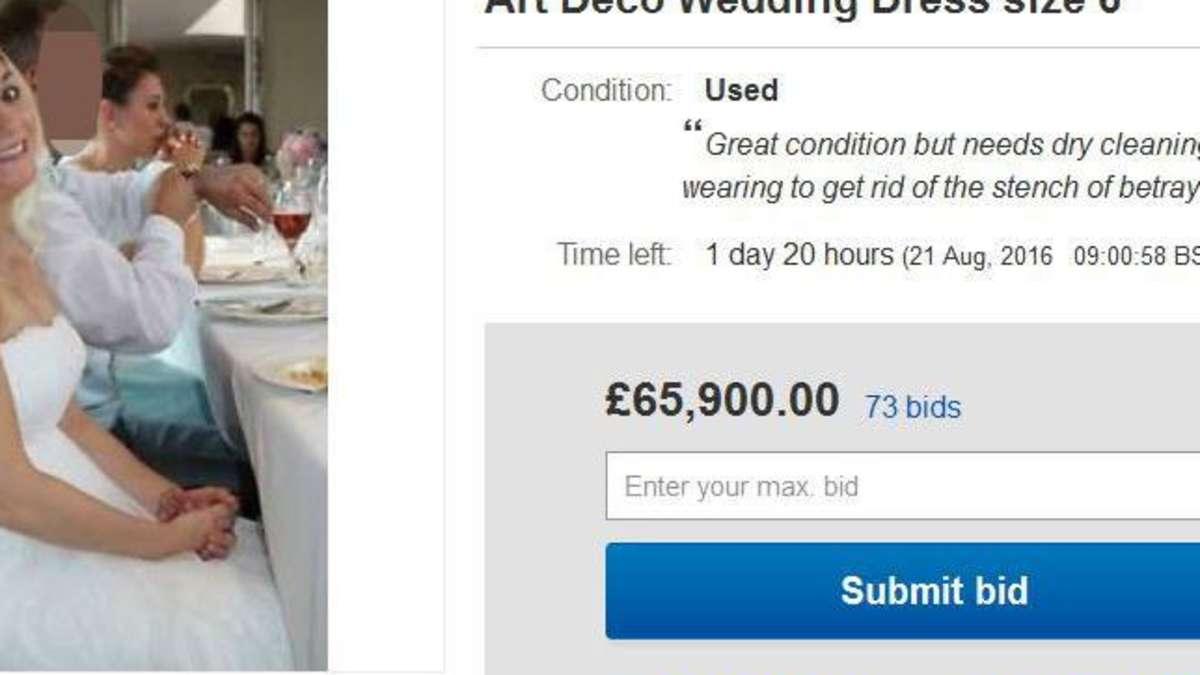 Brautkleid bei ebay als fiese Abrechnung mit dem Ex | Welt