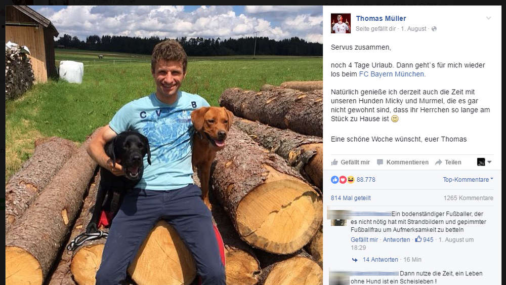 Da ist er bald dahoam: Thomas Müller in Otterfing.