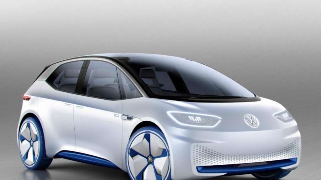 Ausblick auf das Ende des Jahrzehnts: Die Designstudie I.D. will auf das Elektroauto einstimmen, das VW dann auf den Markt bringen will und für elektrische Massenmobilität à la Käfer oder Golf sorgen soll. Foto:Volkswagen AG