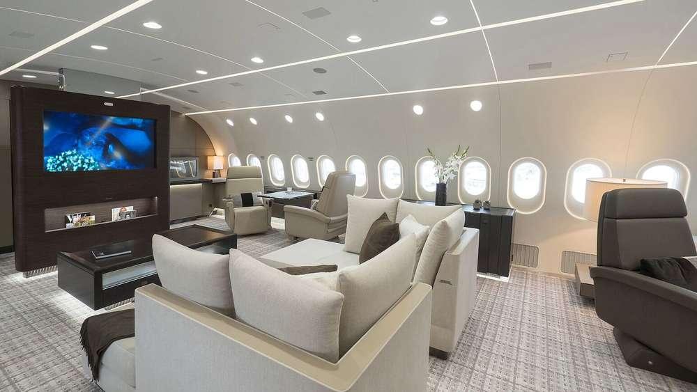 dieses flugzeug ist ein wahrer luxus traum reise. Black Bedroom Furniture Sets. Home Design Ideas