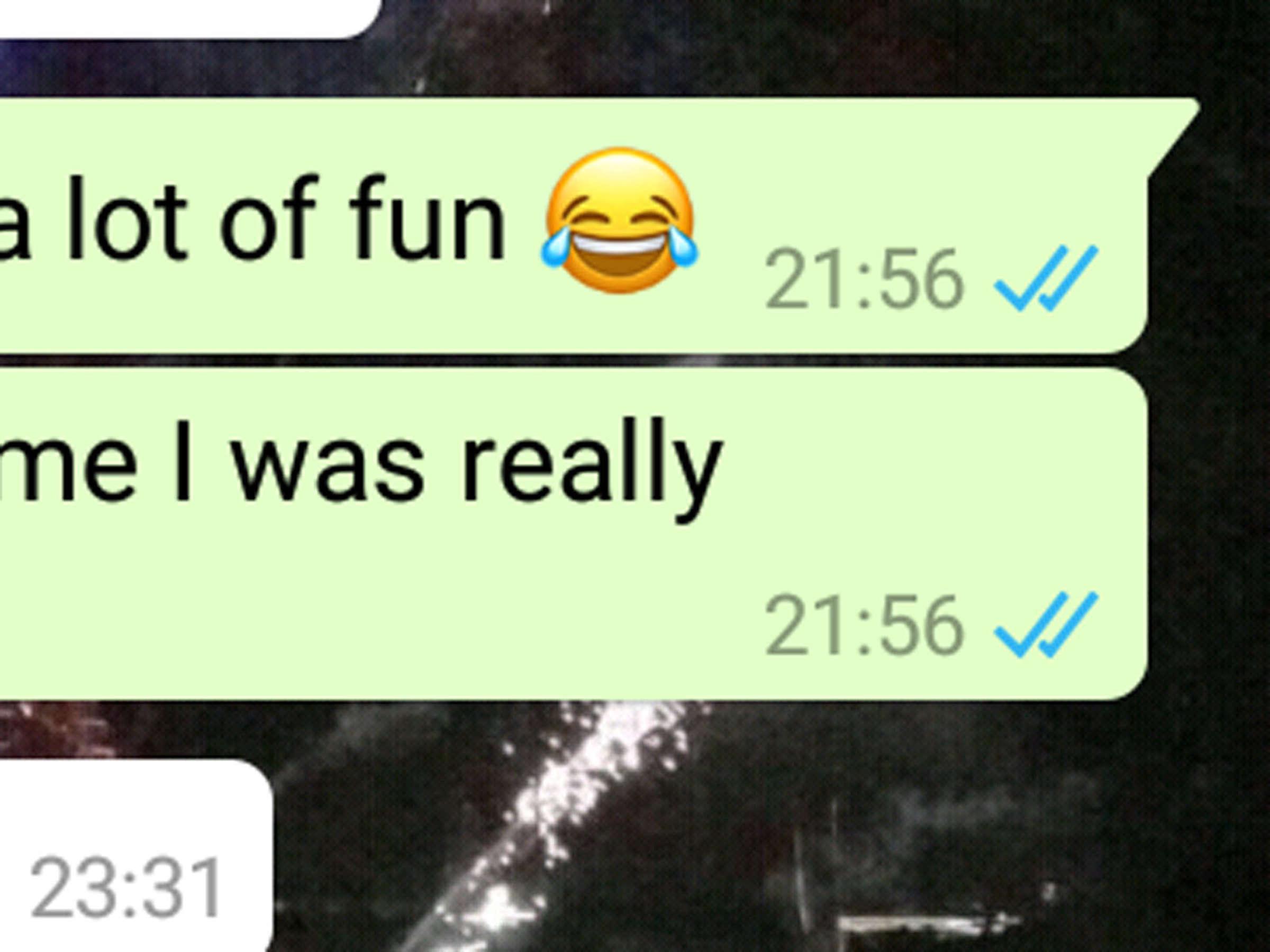 Aus whatsapp handy haken zwei trotz hat er