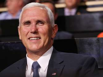 Mike Pence blieb unverletzt.