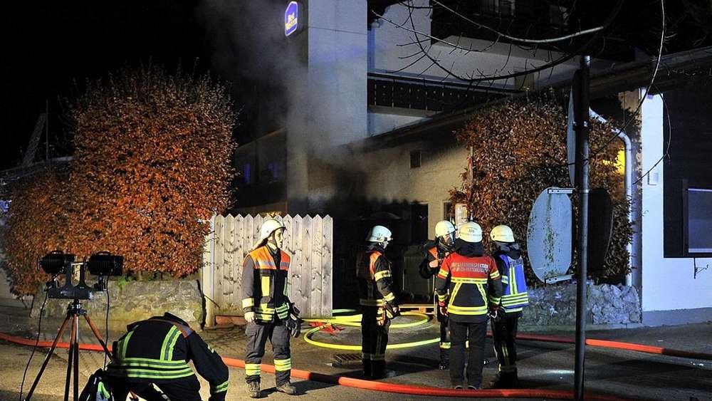 Feuerwehreinsatz In Garmisch Partenkirchen Brand Am Hotel Obermuhle