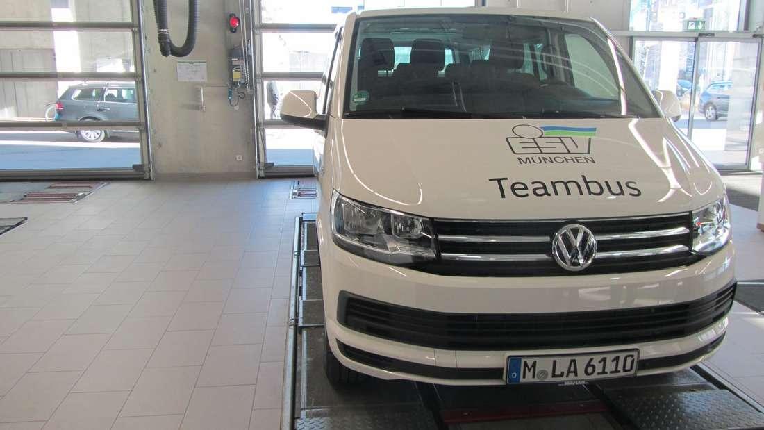Der neue Bus für den ESV München: Ein T6 Caravelle mit neun Sitzen.