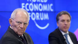 "Schäuble in Davos: ""You never eat as hot as it is cooked"""