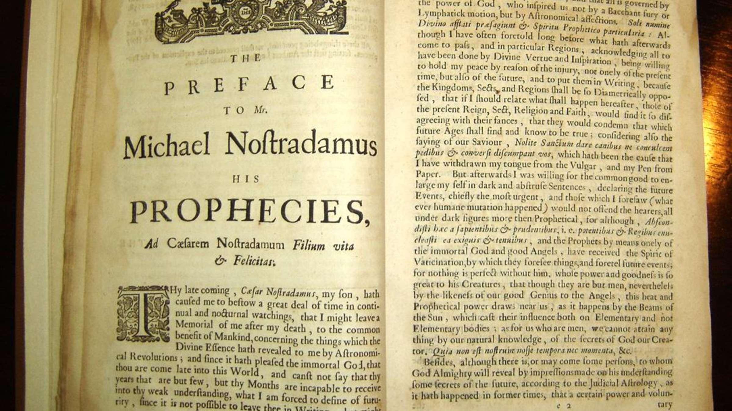 nostradamus prophezeiungen liste