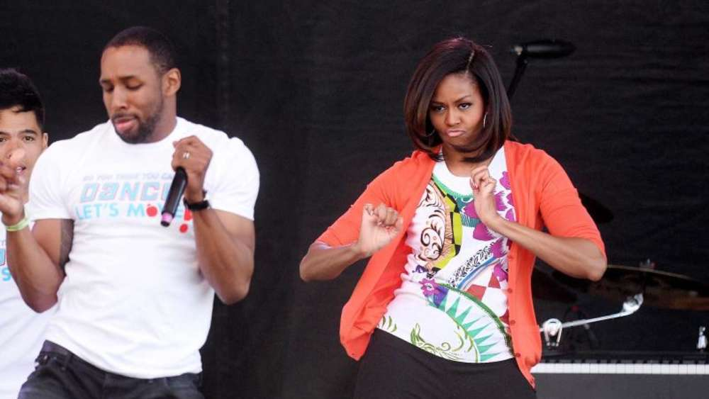 "Beim sogennanten ""Easter egg roll"" 2015 warb Michelle Obama, damalige First Lady der USA, mit einer Tanzperformance für ihre Kampagne ""Let&#39s Move""."