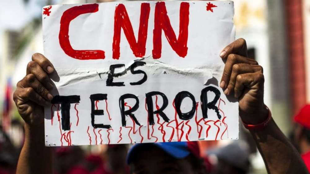 "Demonstration in Caracas: ""CNN ist Terror."" Foto: Santi Donaire/Archiv"