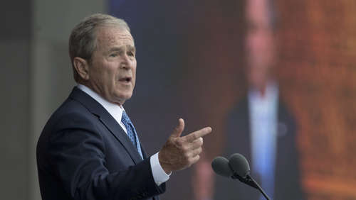 George W. Bush verurteilt Trumps Medienattacken scharf