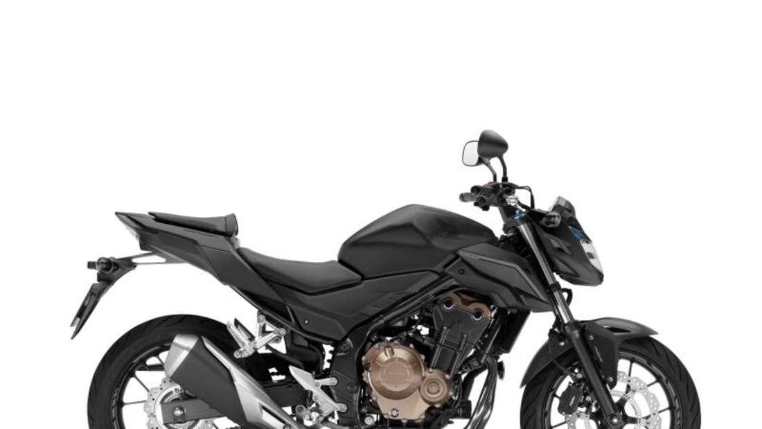 Allrounder: Nicht spezialisierte Maschinen mit vielen Fähigkeiten wie etwa die Honda CB 500 F. Foto: Honda/dpa-tmn