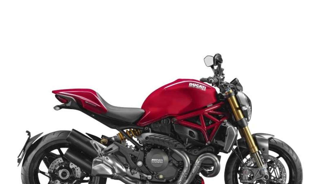 Nackte Tatsachen: Ein typisches, unverkleidetes Naked-Bike ist die Ducati Monster. Foto: Ducati/dpa-tmn