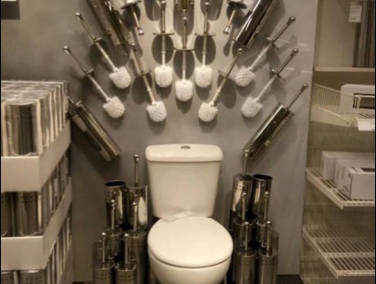 Auf der Toilette thronen: Ikea imitiert \