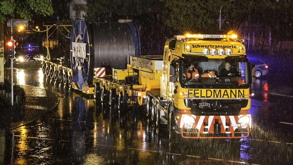 Transport der Tragseile für die Zugspitz-Seilbahn ist geglückt ...