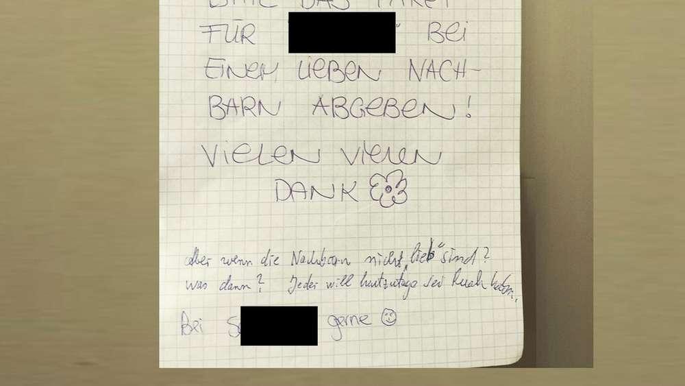 Diese Antwort Auf Eine Paketdienst-Bitte Aus München Ist