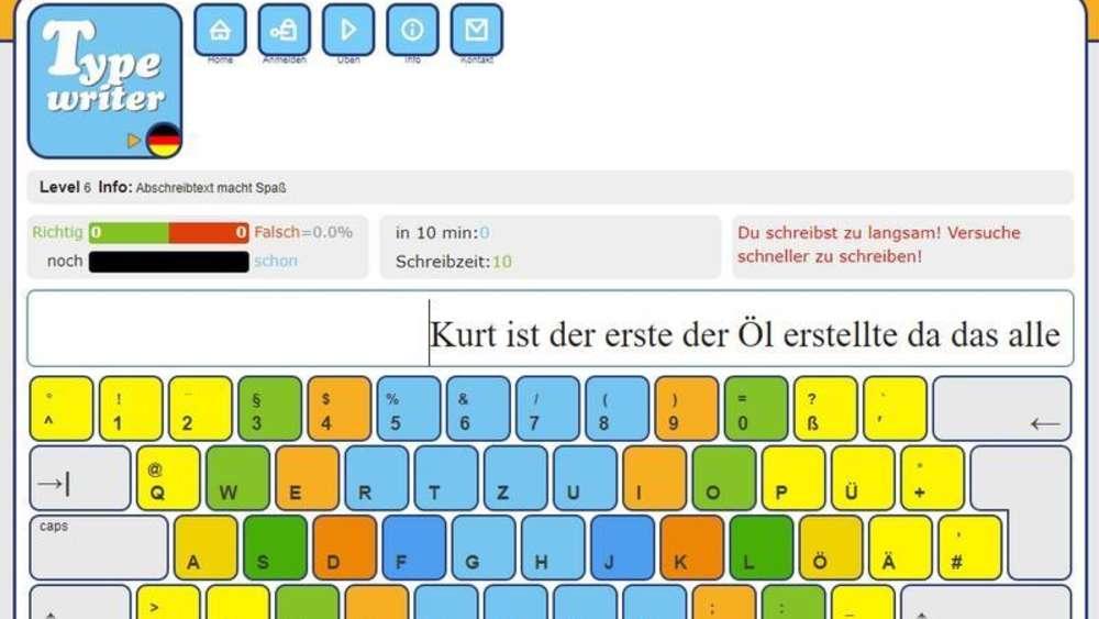 Zehnfingersystem Online