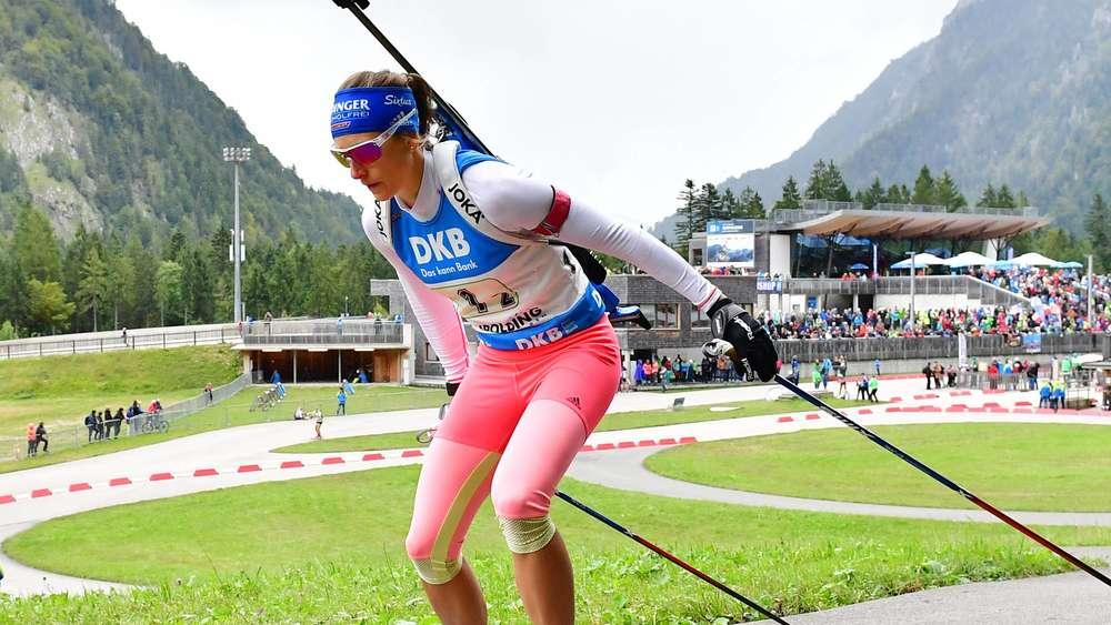 Deutsche Meisterschaft auf Asphalt:Schlierseerin Vanessa Hinz vor Biathlon-Saison