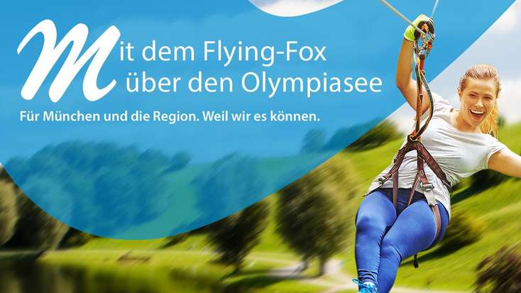 Münchens längster Flying Fox beim Outdoorsportfestival 2017