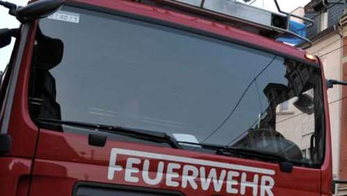 Dachterrasse in Brand geraten