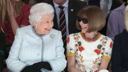 Die Queen besucht die London Fashion Week