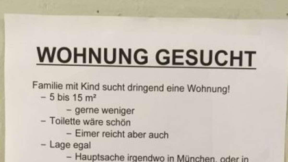 Verbitterter Aushang So Umkämpft Ist Der Wohnungsmarkt In München