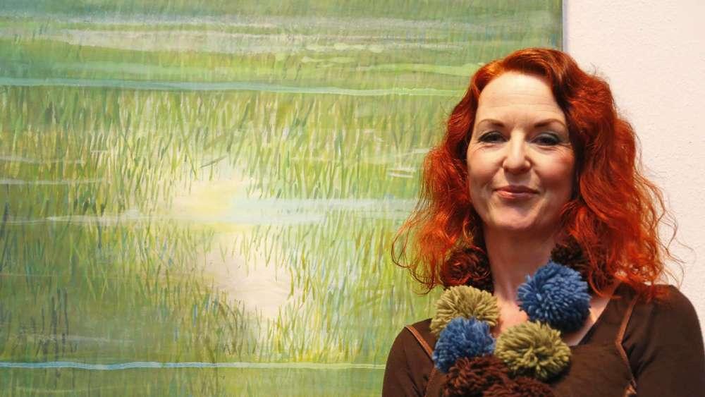 Brigitte Probeabo künstlerin brigitte seidel malt ausschließlich mit grün icking