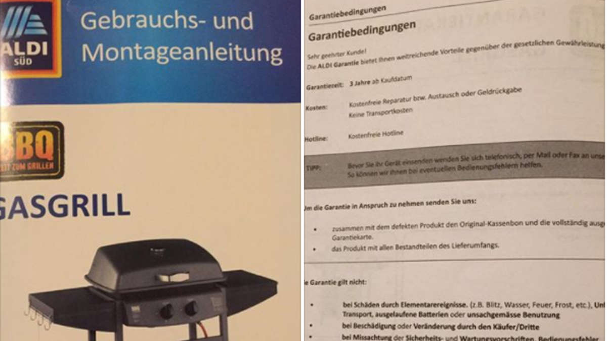 Aldi Gasgrill Montageanleitung : Kunde findet kuriosen fehler in aldi anleitung die antwort des