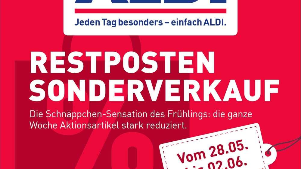 Aldi Aktuell Hohe Rabatte Auf Restposten Warenlager Zu Voll