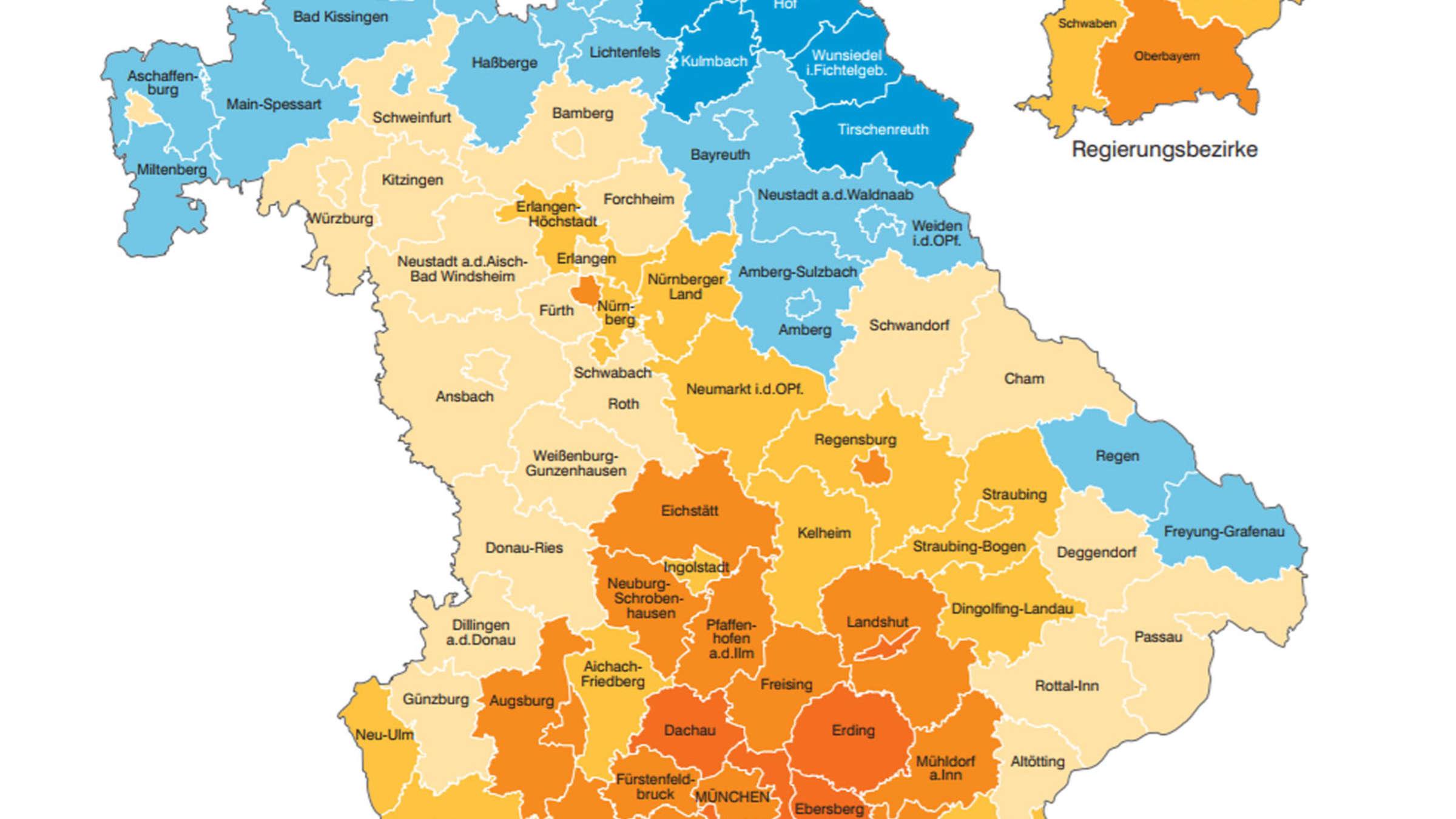 Bayern In Welche Landkreisen Die Zuagroasten Hinziehen Bayern
