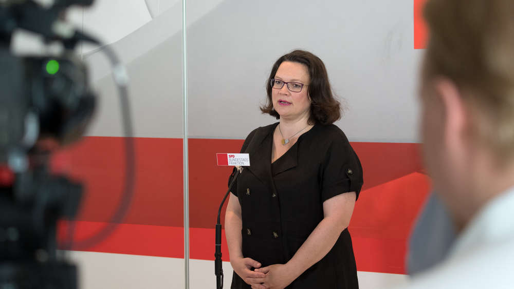 Bundestag - Statement Nahles