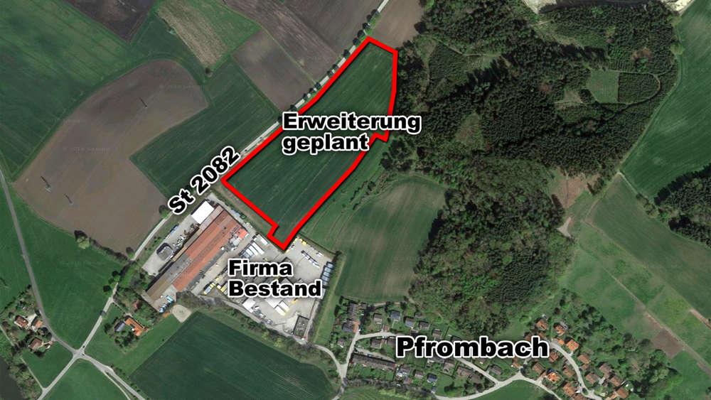Neues Gewerbegebiet geplant: Direkt anschließend an das bisherige Firmengelände will ELA Container in Pfrombach expandieren.