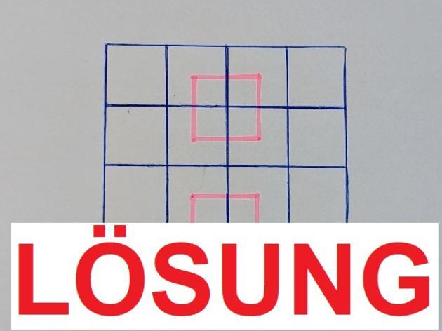Lösung: IQ-Test für Schlaue - Wie viele Quadrate sehen Sie?