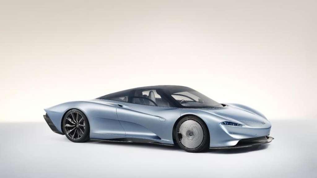 Ausverkaufter Ausnahmesportler: Der McLaren Speedtail mit 772 kW/1050 PS soll 403 km/h schnell werden. Foto:McLaren