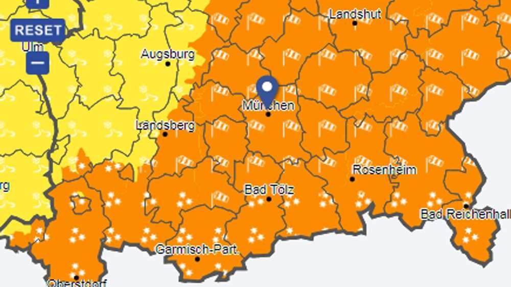 Wetterbayern Bis Zu 40 Zentimeter Neuschnee Amtliche Warnung Für