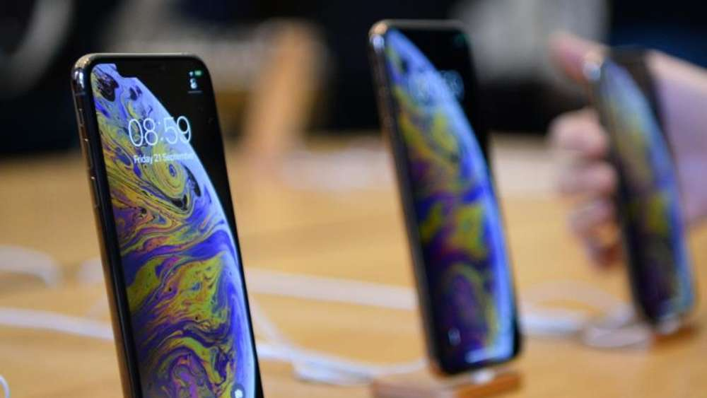 Die iPhone-Modelle iPhone XS und iPhone XS Max im Apple Store in der Regent Street in London. Foto: Kirsty O&#39connor/PA Wire